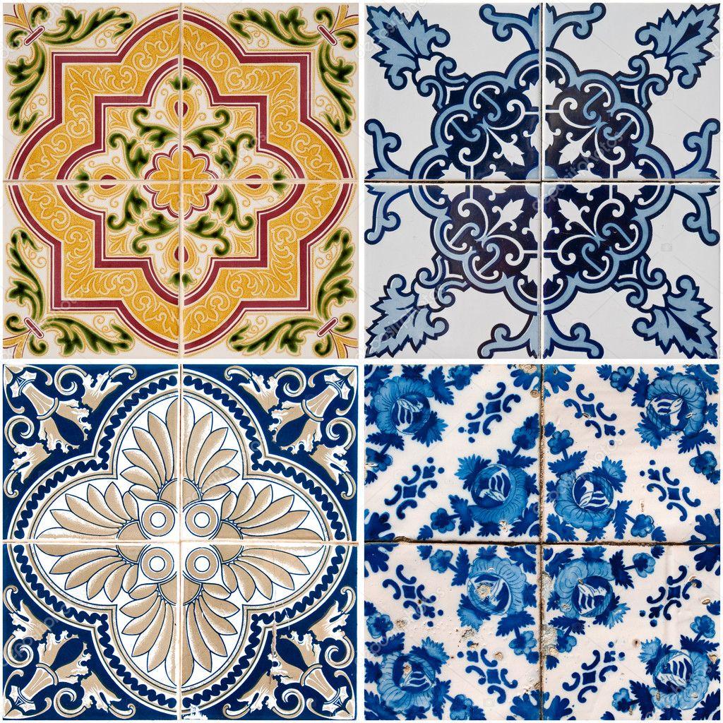 Azulejos de cer mica vintage foto de stock homydesign for Azulejos de ceramica