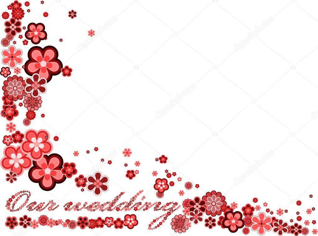 marco con palabras nuestra boda hecha de muchas diversas flores ...