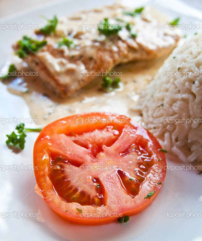 how to make salmon and rice