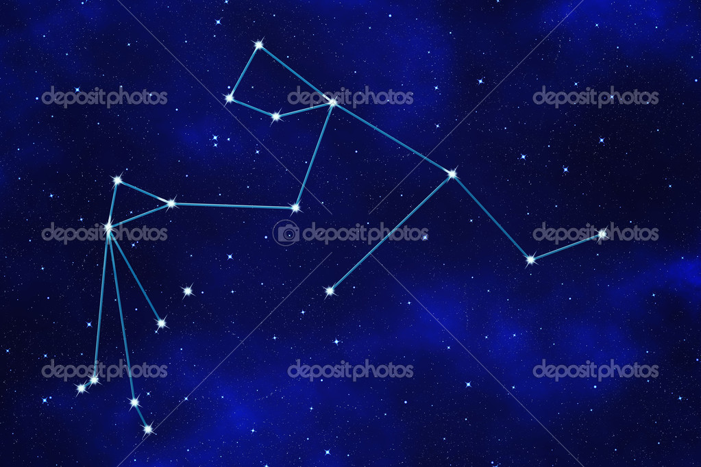 Star Field Background Of Zodiacal Symbol Aquarius Stock Photo