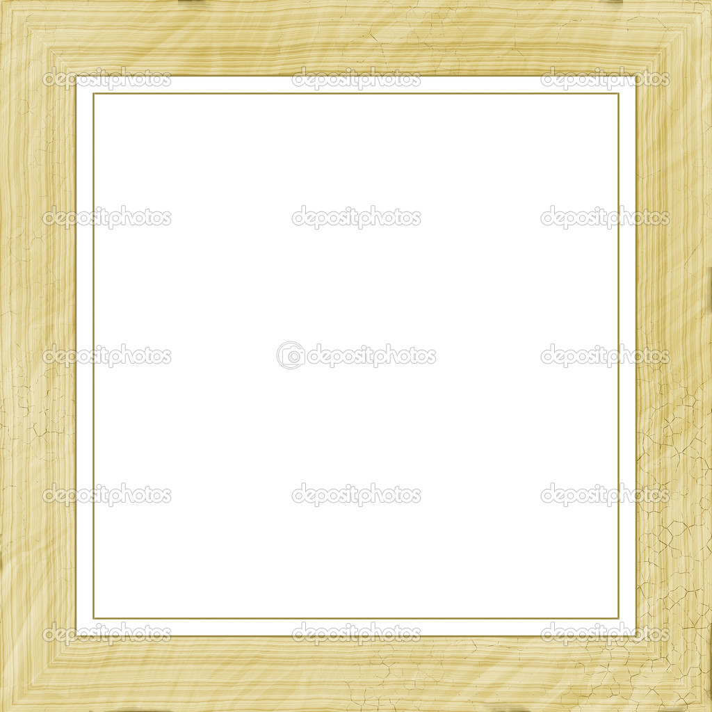 Vintage Bilderrahmen, Holz vergoldet, Weißer Hintergrund — Stockfoto ...