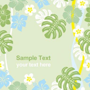 Seamless tropical frame