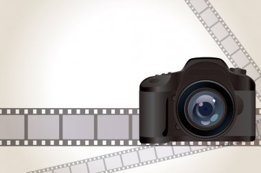 Camera and film background