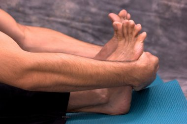Dancers forearms and feet