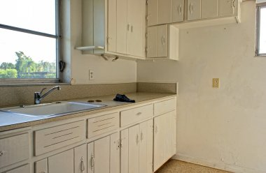 Empty old rundown kitchen