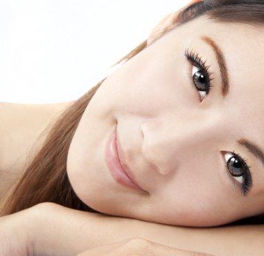Close up of asian woman face