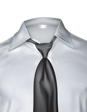 White man's shirt with tie