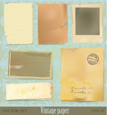 Vintage paper and scrap collection