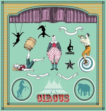Vintage circus elements