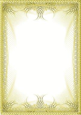 A luxury golden blank (cetificate)
