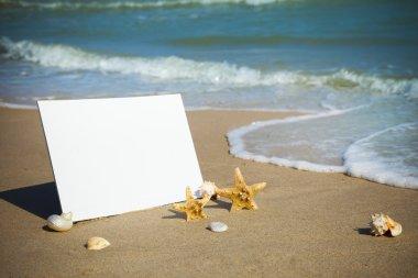 Summer / Blank Beach Paper on the sea