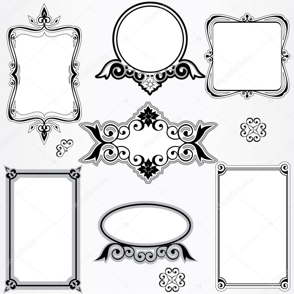 conjunto recargado marco vintage — Vector de stock © rsinha #5698933