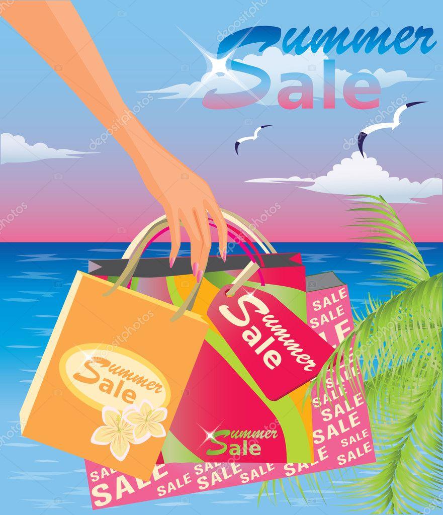 Summer sale. vector illustration
