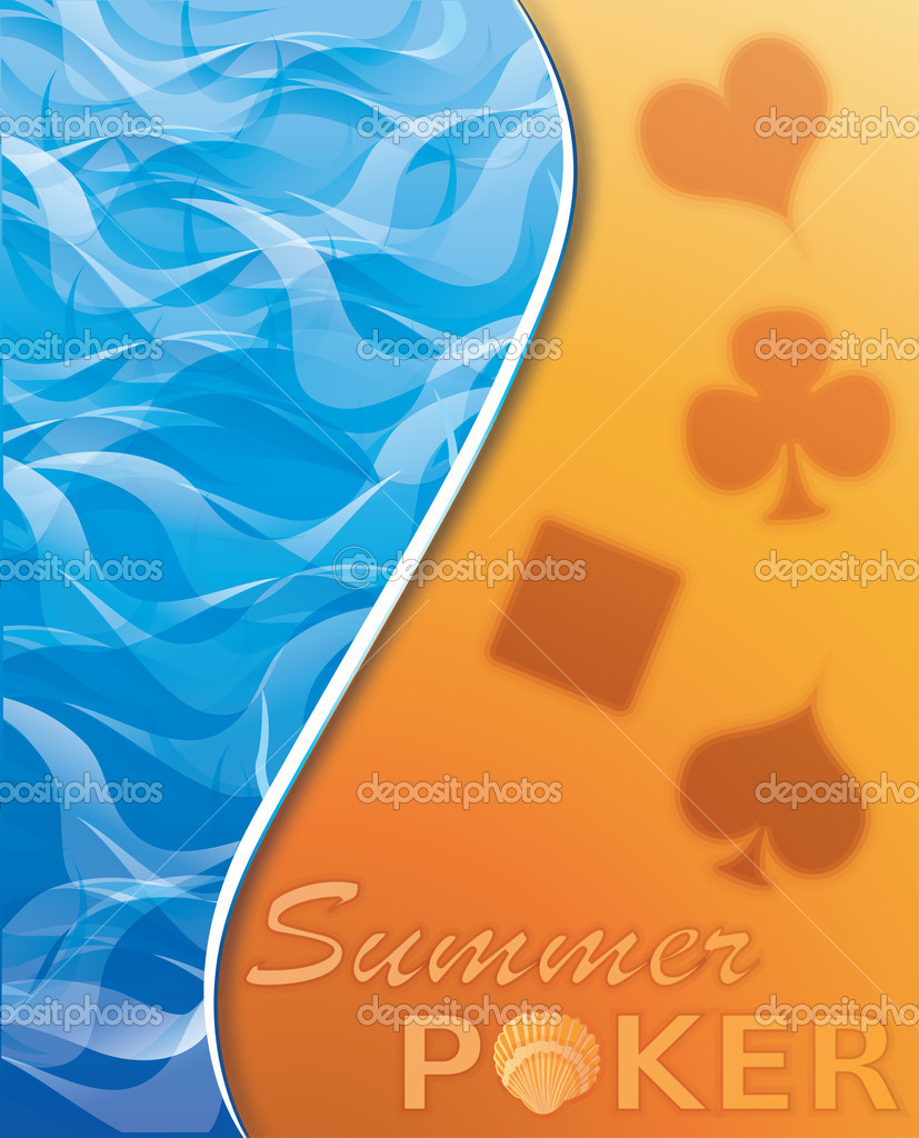 Summer poker background, vector illustration