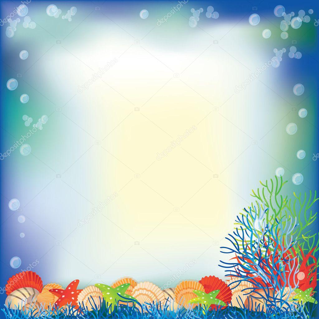 Underwater frame. vector illustration