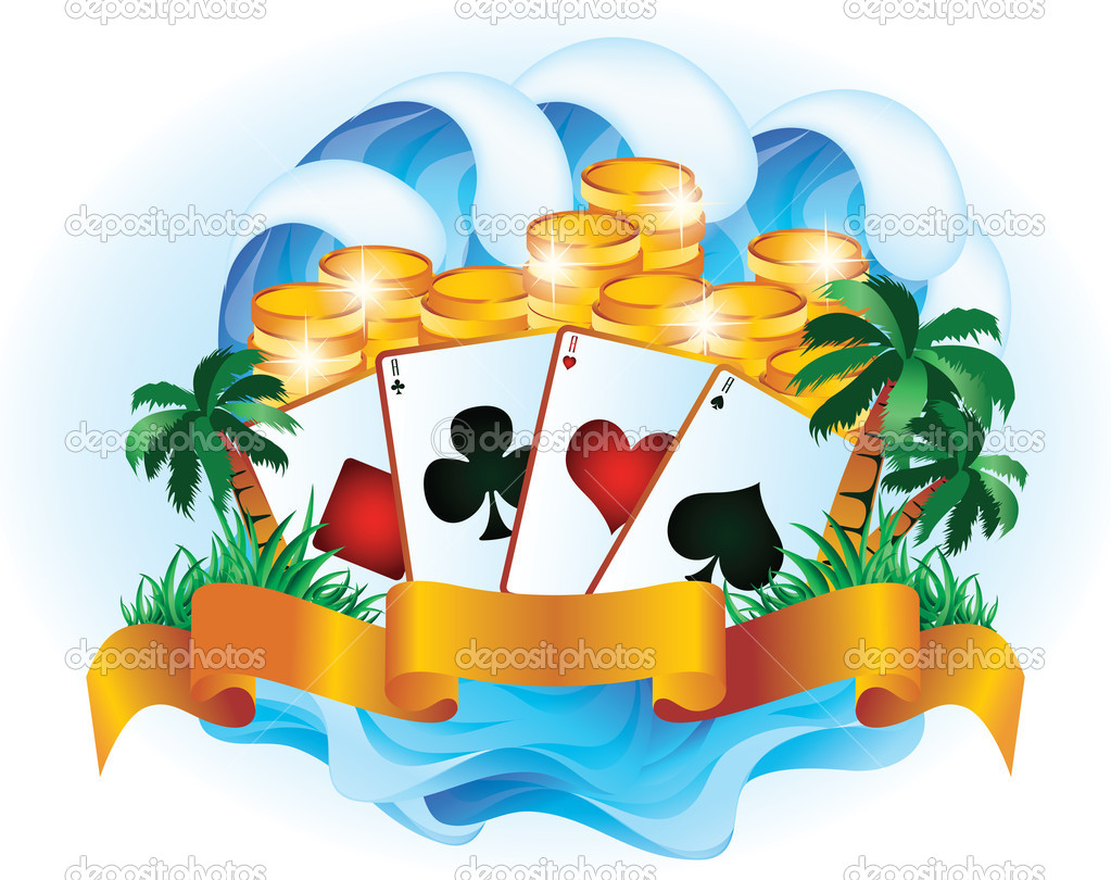 Tropical poker. vector illustration