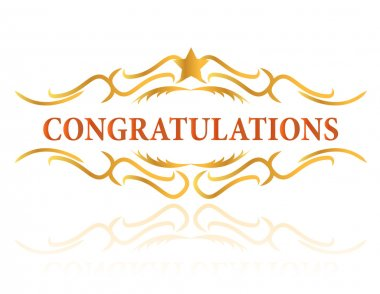 A congratulations gift card sign