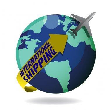 International shipping stock vector