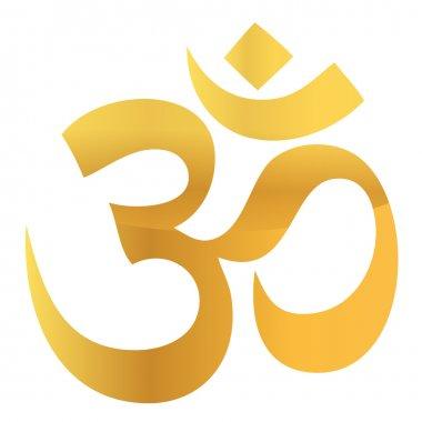 Gold Om Aum Symbol