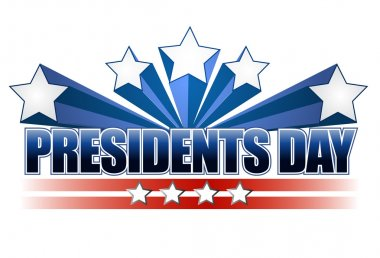 Presidents day sign isolated over a white background.