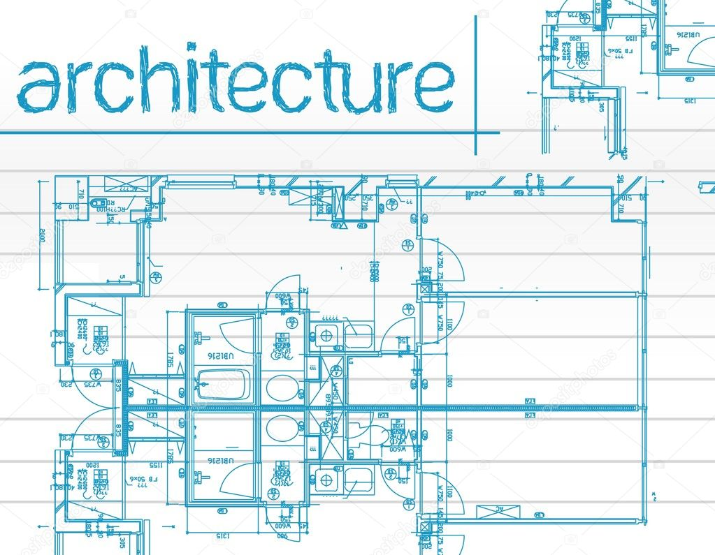 Architectural blueprints over a blue background stock for Architecture blueprints