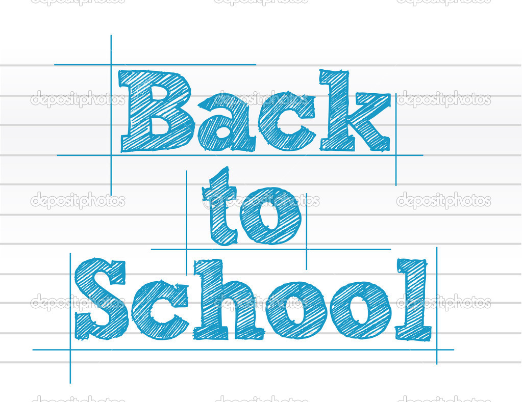 to school sign over notepad paper — Stock Photo #6413533