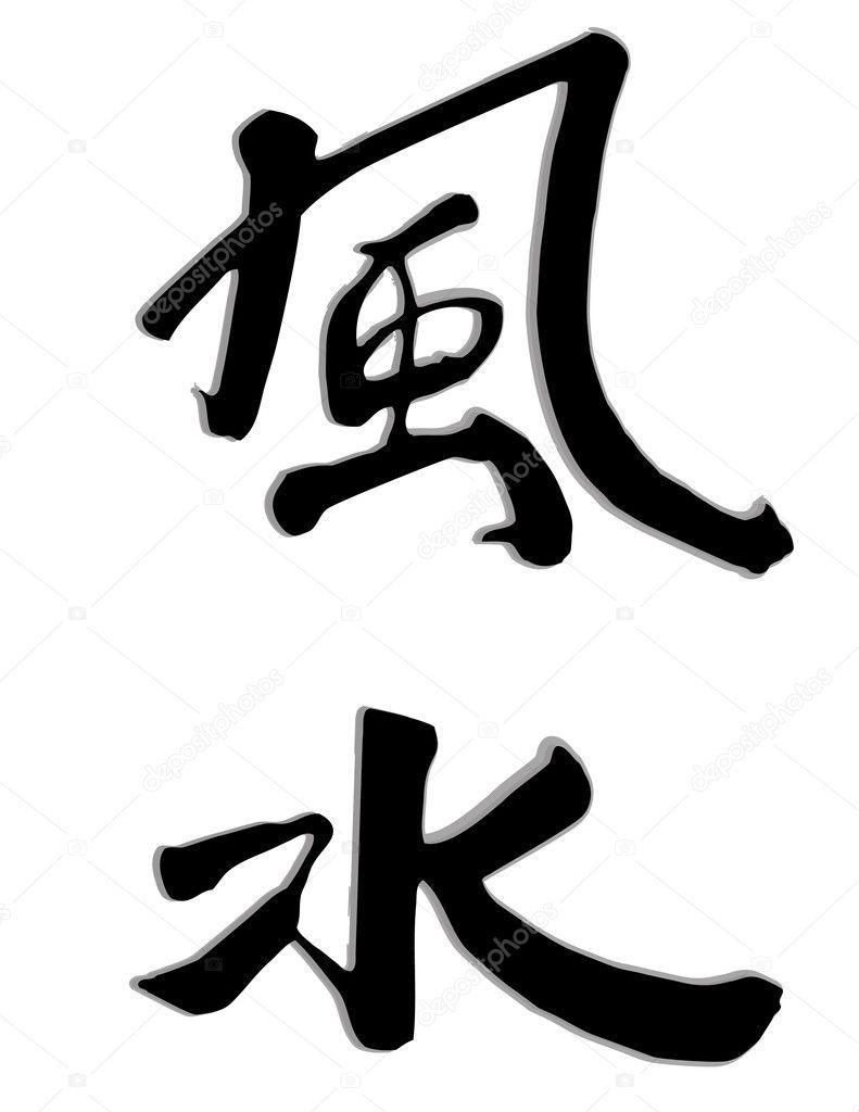 Illustration of the world feng shui.
