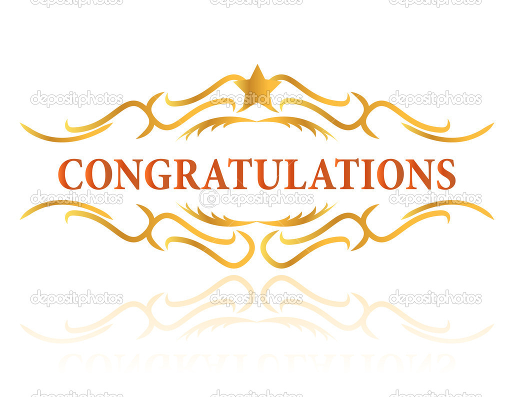 A Congratulations Gift Card Sign Stock Photo