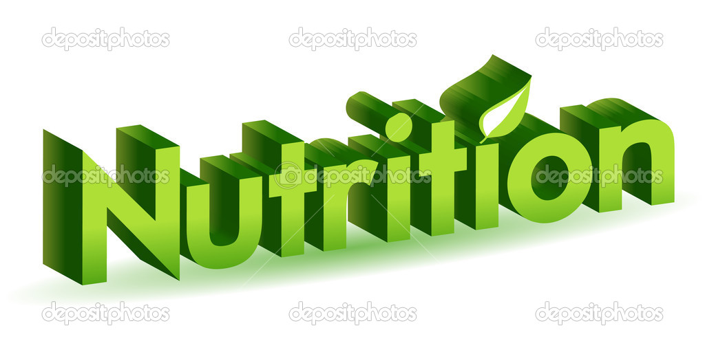 Nutrition green 3d isolated over white