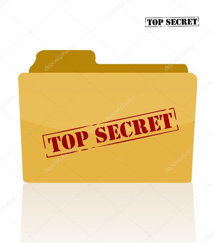 Secret document folder with top secret printed on face — Stock Photo #6418181
