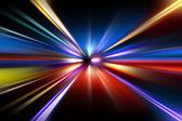 Zrychlení rychlosti pohybu na silnici v noci