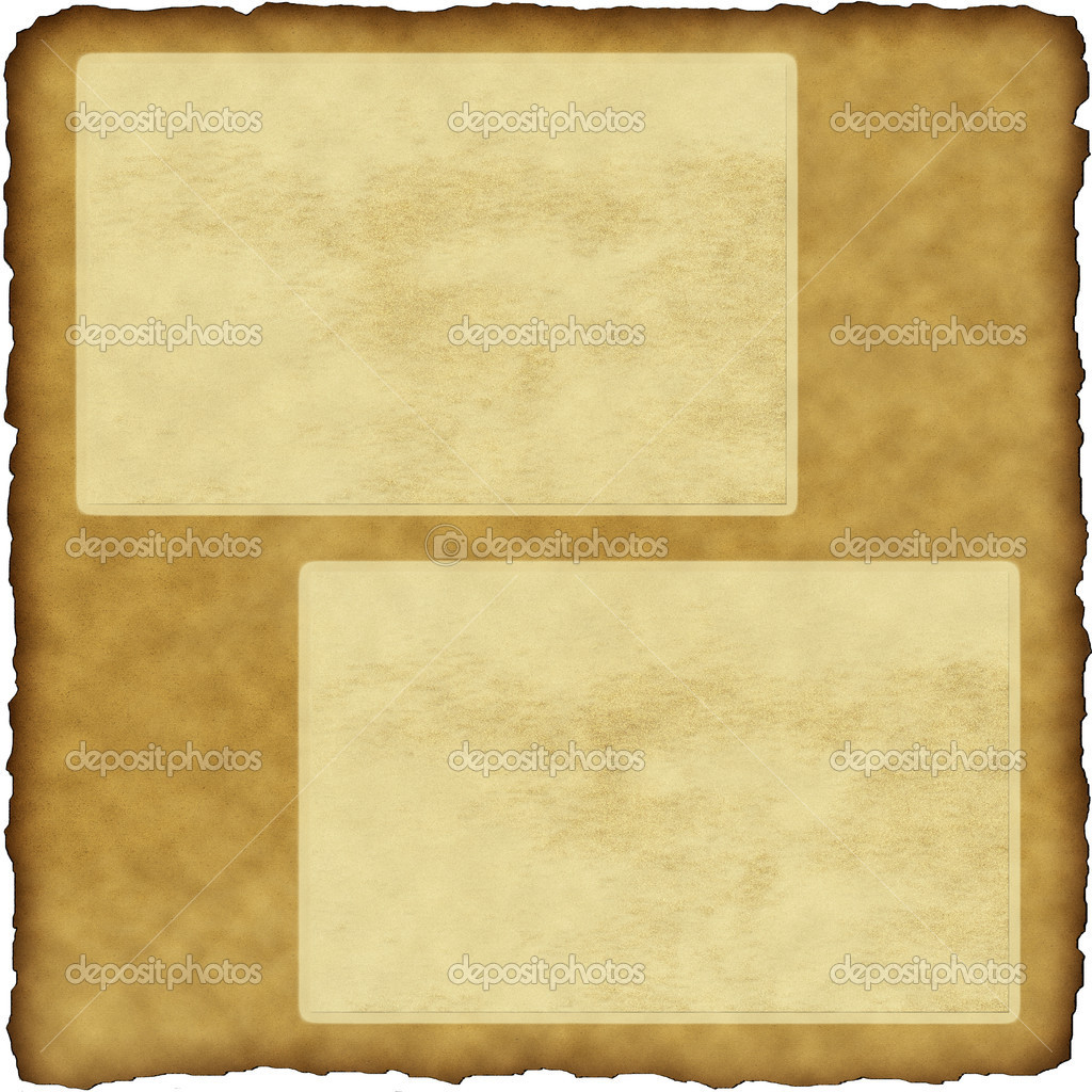 Vintage Scrapbook Old Paper With Frames Stock Photo Iscatel70