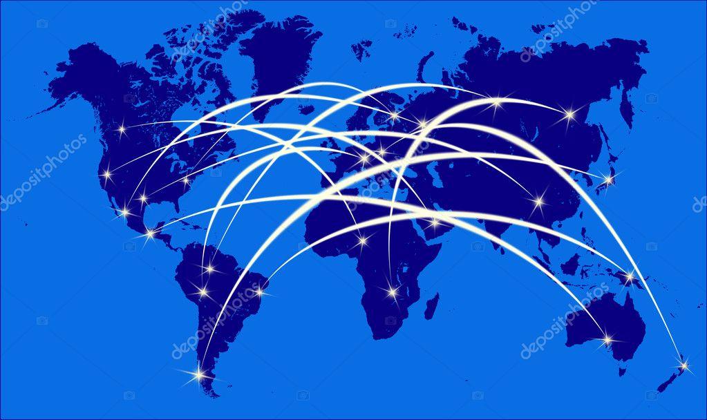 Internet Auf Der Weltkarte Stockfoto C Iscatel70 6293122