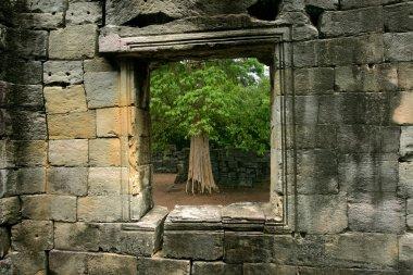Stone window in Cambodia