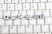 Kostky na klávesnici