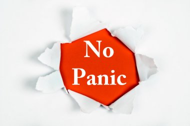 No panic under paper