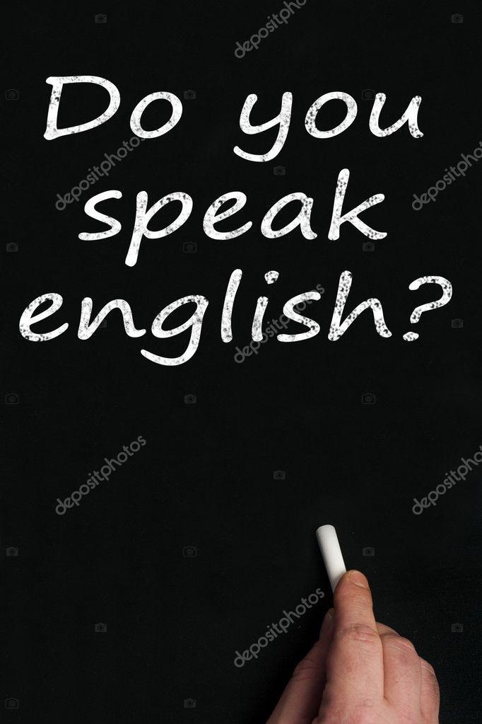 Parlez Vous Anglais Sur Panneau Noir Photographie Fuzzbones C 6241364
