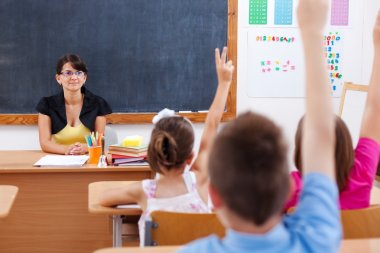 Teacher and their students
