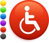 Fotografie Rollstuhl-Symbol Runde Internet-Button