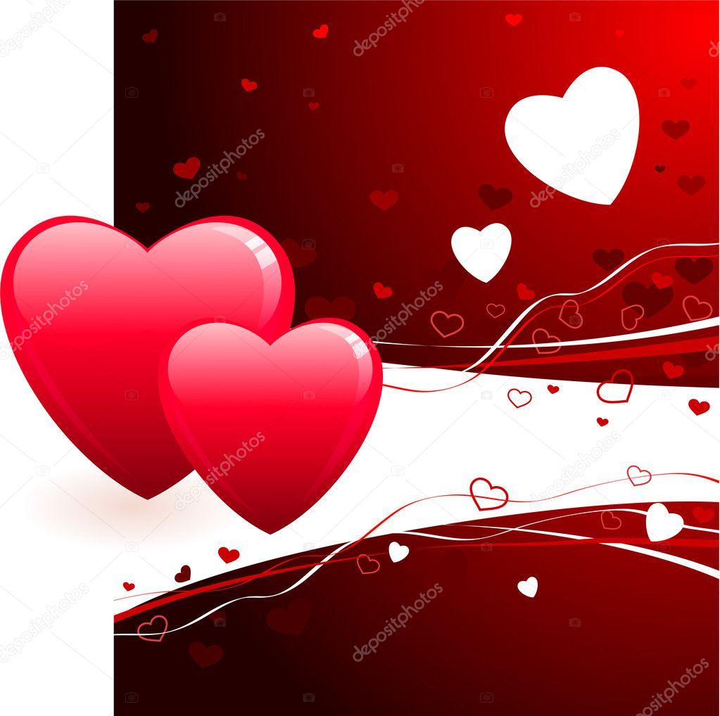 romantic hearts valentine u0027s day design background u2014 stock vector