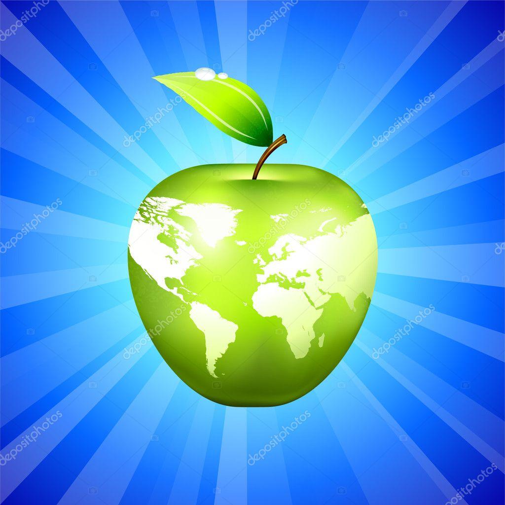 Apple globo mapamundi sobre fondo azul vector de stock iconspro apple globe world map on blue background original vector illustration apple illustration vector de iconspro gumiabroncs Choice Image