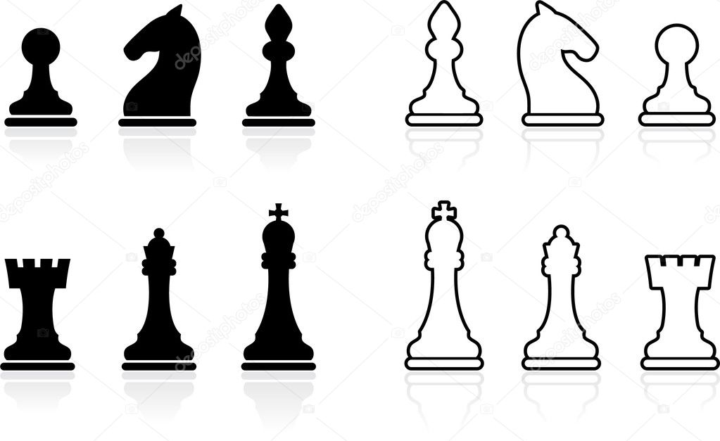 Simple Chess set collection Stock Vector iconspro 6029675