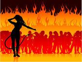 Party in der Hölle mit dem Teufel