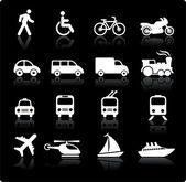 Photo Transportation icons design elements