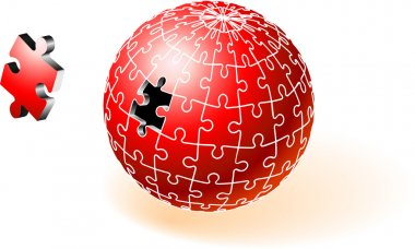 Incomplete Red Globe Puzzle