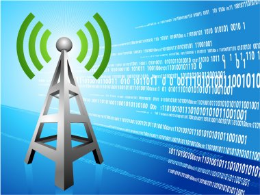 Digital Radio tower wave modern Background