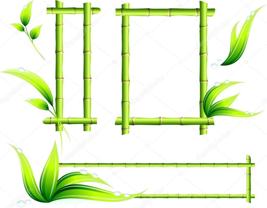 Bamboo Frames — Stock Vector © iconspro #6030698
