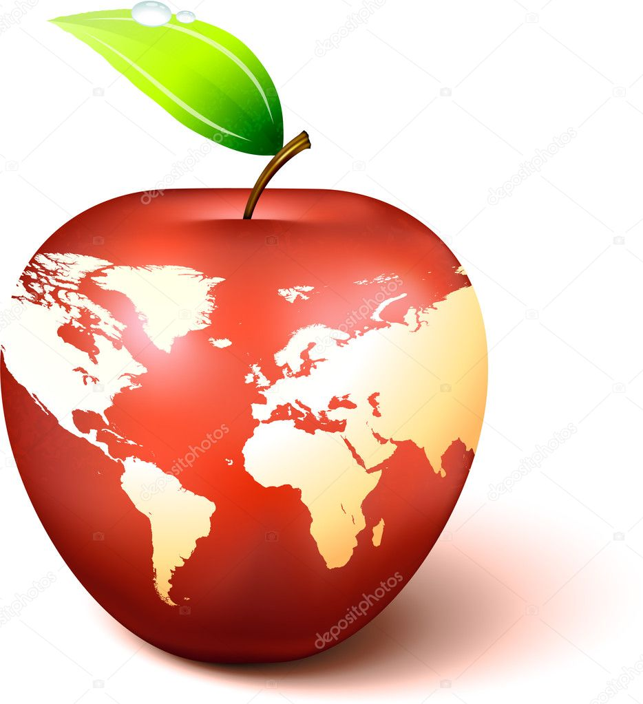 Apple globe with world map stock vector iconspro 6031175 apple globe with world map original vector illustration apple illustration vector by iconspro gumiabroncs Images