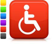 Fotografie Rollstuhl-Symbol Quadrat Internet-Button