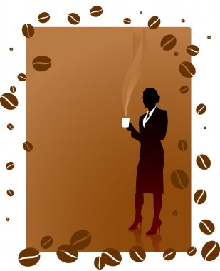 Business woman on coffee break